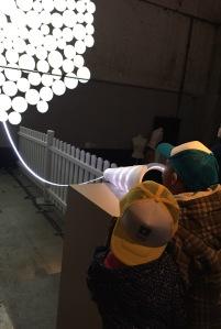 Kids enjoying installation MurMur at the Cinekid MediaLab