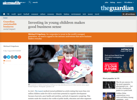 Investing in young children makes good business sense